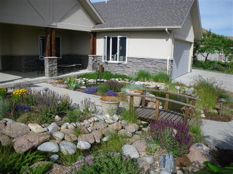 Landscape Rock Greeley Front Yard Waterfall Greeley Colorado Traditional