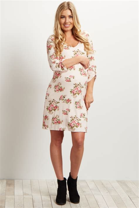 Light Pink Sleeve Dress by Light Pink Printed 3 4 Sleeve Dress