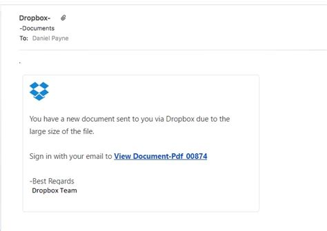dropbox email that isn t dropbox tualatin web