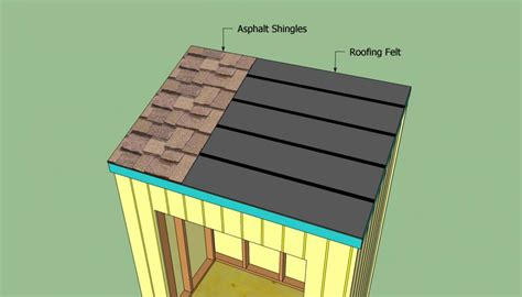 how to build a slanted shed roof without a lot of effort