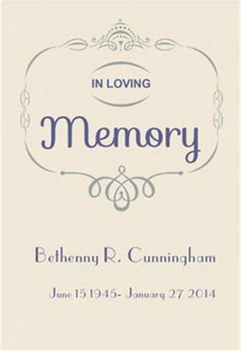 memory template in loving memory of templates www pixshark images