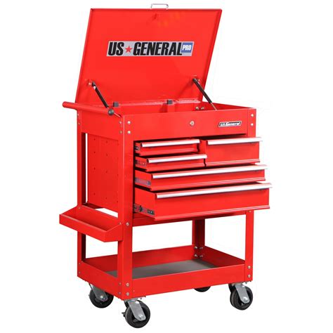 Five Drawer Tool Cart by 30 In 5 Drawer Glossy Tool Cart