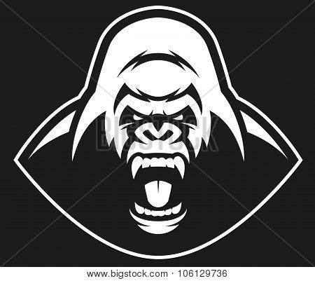 Gorilla Face Outline