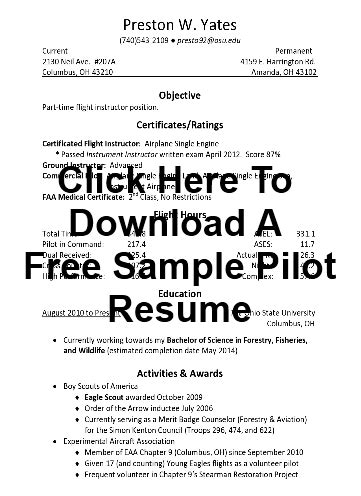 sle pilot resume sles exles and more