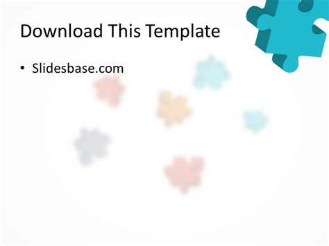 powerpoint jigsaw puzzle template 3d colorful puzzle powerpoint template slidesbase