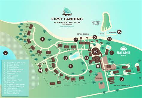 first land resort map first landing resort fiji