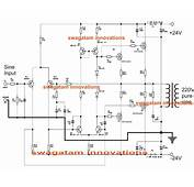 Simple Pure Sine Wave Inverter Circuit  500 Watt