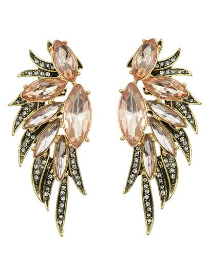 Rhinestone Wing Earrings multicolors rhinestone wing earrings on luulla