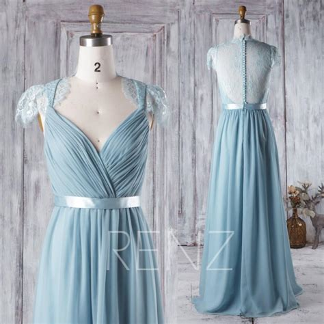 Wedding Hair For Cap Sleeve Dress by 2016 Blue Bridesmaid Dress V Neck Wedding Dress Lace