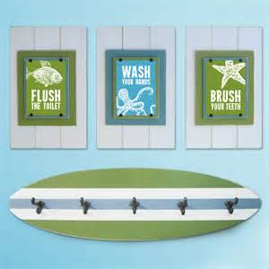kid bathroom sets kid s bathroom print set and surfboard towel rack