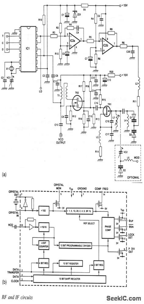 frequency synthesizer circuit diagram vhf frequency synthesizer electrical equipment circuit