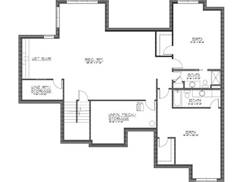 House Plans With Finished Basement Finished Basement House Plans Home Design Ideas Increase Value Of Basement With Finished