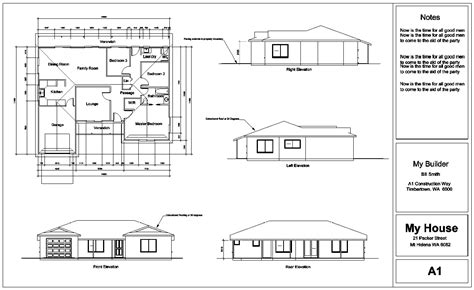 plan elevation section modern house