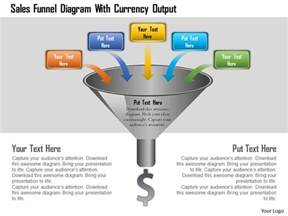 sales funnel diagram with currency output powerpoint