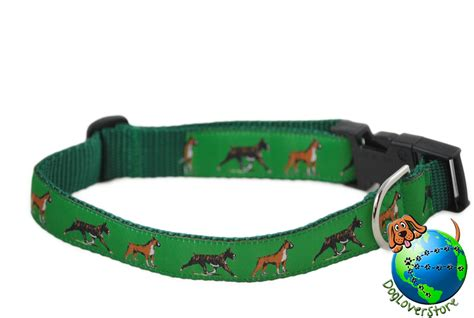 large breed collars boxer breed adjustable collar large 12 20 green