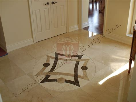 floor design simple marble medallions waterjet cut marble floor insert