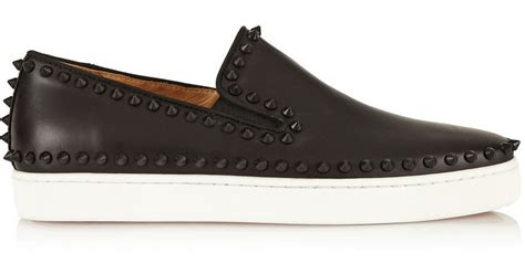 mens christian louboutin studded sneakers christian louboutin studded patent leather skate sneakers