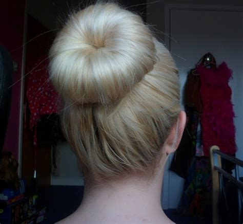 donut bun hairstyle with bangs har styles wth donut hairstylegalleries com