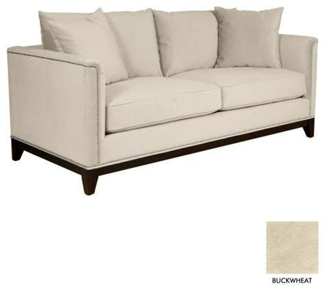 studded sectional la brea studded sofa buckwheat contemporary sofas