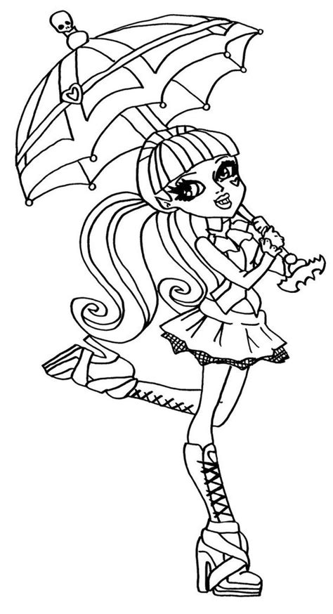 Draculaura Monster High Coloring Page Coloring Pages Of High Draculaura Coloring Pages