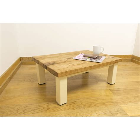 oak and iron thin coffee table by oak iron furniture