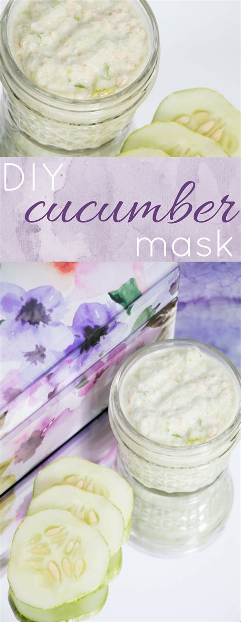 cucumber mask diy diy anti aging cucumber mask
