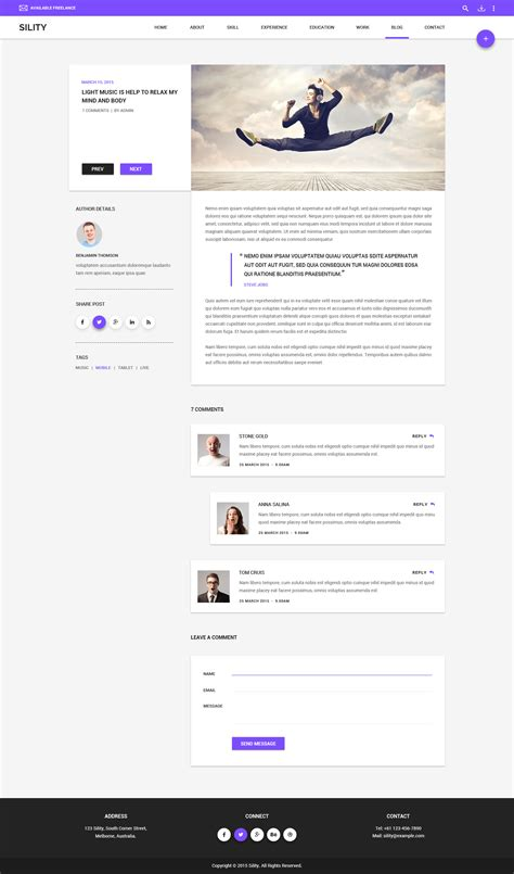 templates cv wordpress sility vcard cv resume wordpress theme by wpmines