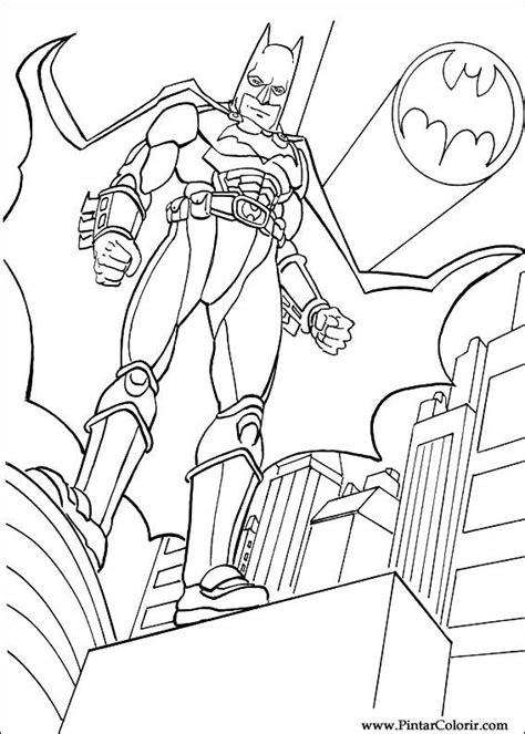 Desenhos Para Pintar e Colorir Batman - Imprimir Desenho 037