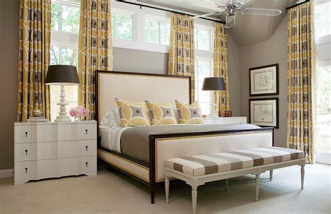 bedroom fancy curtains in white color of special design cheerful sophistication 25 elegant gray and yellow bedrooms