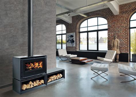 cheminee le droff poele a bois rectangulaire energies naturels