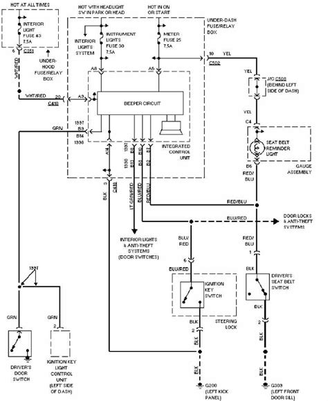 honda cr v 1997 system warning wiring diagram all about