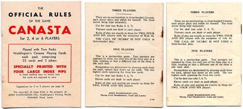 Printable Card Game Rules | pin canasta score cards for 2 on pinterest