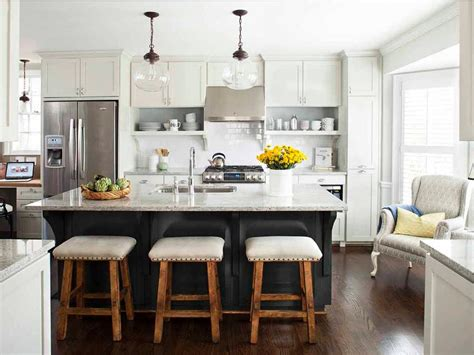 white kitchen island with seating photo page hgtv