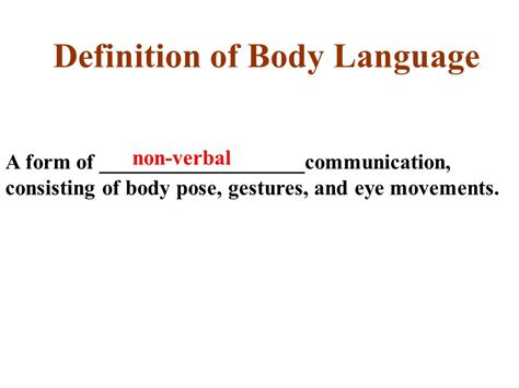 theme communication definition definition of body language ppt video online download