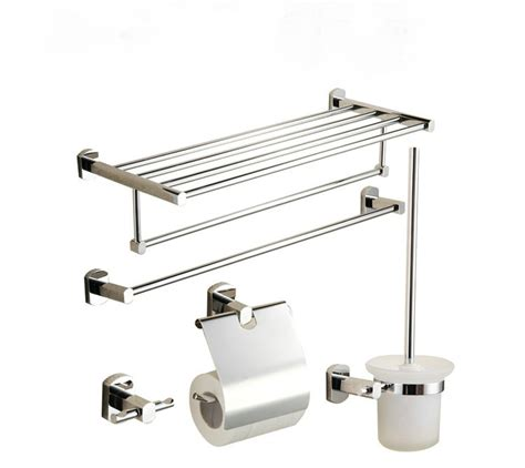 Chrome Bathroom Accessories Set 5 Chrome Finish Bathroom Accessory Set 001 Faucets Shop
