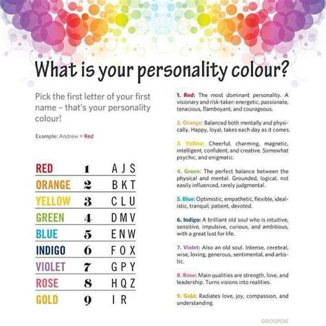 what color is your personality what s your personality color color my world