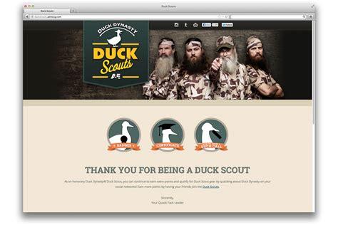 brilliant visions design portfolio of jarrett brilliant duck scouts microsite jarrett brilliant