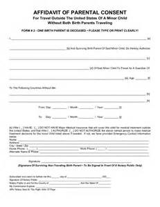 parental consent form template parental consent form for child travel free