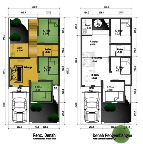rumah sederhana berkamar tiga di lahan 6x12 5m tipe padas aguscwid aguscwid