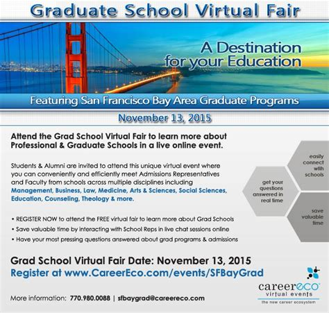 Best Mba In Bay Area by Grad Fair Sponsored By Bay Area Graduate