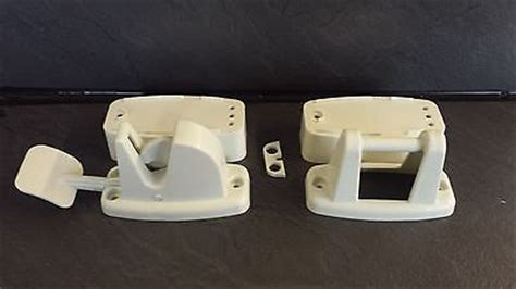 Exterior Door Catch Static Caravan Mobile Home Park Home Exterior Door Catch Retainer White X 2