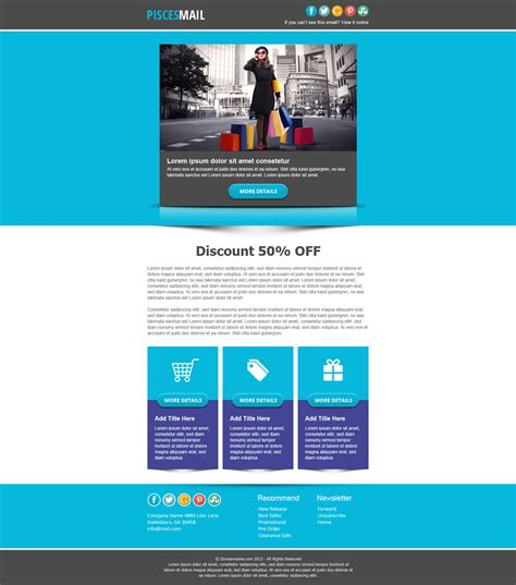themeforest email templates piscesmail email newsletter template by pophonic