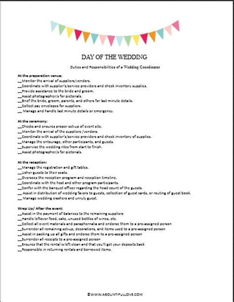 Wedding Planner Description by Wedding Planner Duties Wedding Ideas Vhlending