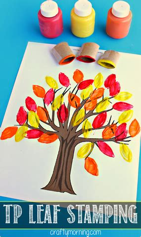 Toilet Paper Roll Leaf Stamping Fall Tree Craft - Crafty ... Empty Toilet Paper Roll Png