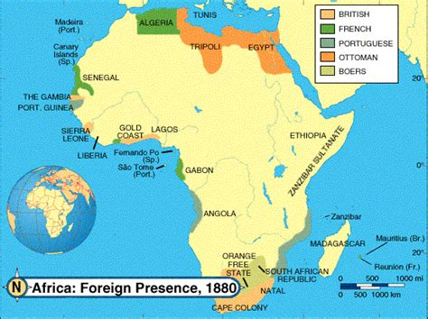 africa map 1800 scramble for africa