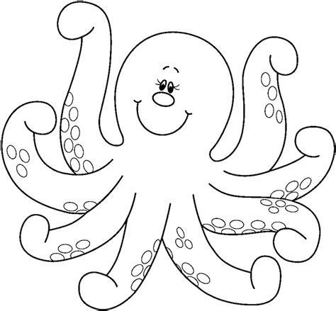 imagenes en blanco para pintar dibujos de pulpos moluscos marinos con 8 patas para pintar