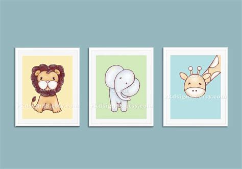 Baby Boy Nursery Wall Decor Childrens Wall Nursery Prints Baby Boy Nursery