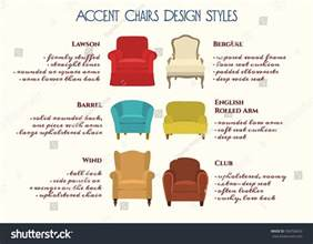 vector infographic accent chairs design styles stock