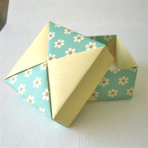 Paper Folded Box - origami gift boxes folded paper and origami 窶 窶 貂 豺