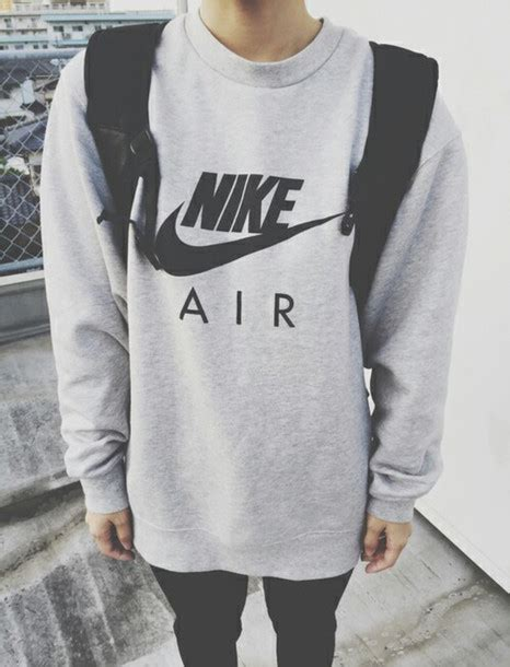Sweater Jaket Hoodie Air 1 jacket sweater nike air gray mens sweater grey sweater